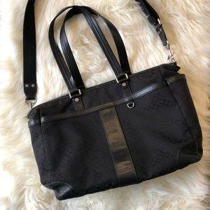 Coach Black Diaper/Tote Bag